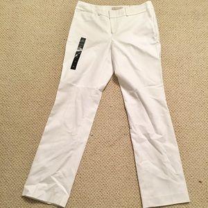 NWT Banana Republic 6S white dress pants